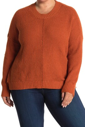 Sweet Romeo Waffle Knit Pullover Sweater