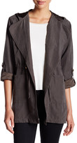 Live A Little Lightweight Tie Front Hooded Anorak (Petite)