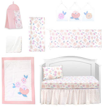Pam Grace Creations Vintage Like Rose 10 Piece Crib Bedding Set Bedding