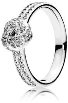 Pandora Sparkling Love Knot Clear CZ Ring Size 6 - 190997CZ-52