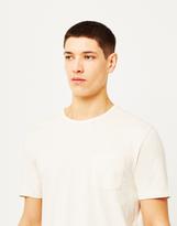 Hawksmill Garment Dyed Slub Pocket T-Shirt White