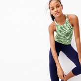 New Balance for J.Crew Racerback tank top with built-in sports bra in palm print