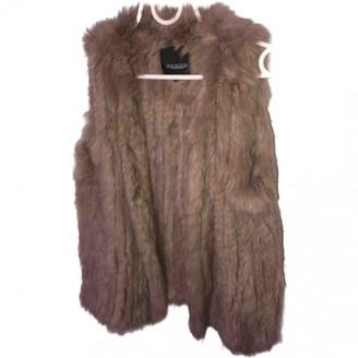 Oakwood Beige Rabbit Leather Jacket for Women