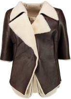 Marni Draped shearling jacket