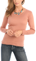 Le Mieux Taupe Scoop Neck Top