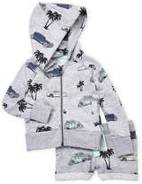 Sovereign Code Infant Boys) Two-Piece Printed Zip Hoodie & Shorts Set