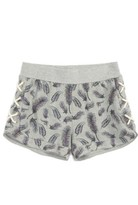 C&C California Girl's Feather Print French Terry Shorts
