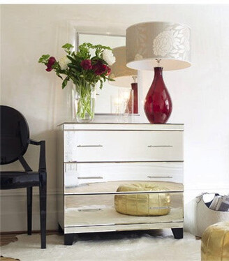Isa Belle Isabelle Mirrored Chest Of Drawers