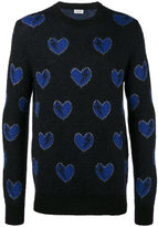 Saint Laurent Mohair Hearts Sweater - men - Polyamide/Polyester/Viscose/Wool - M