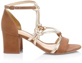 Alexandre Birman Macrame Rope Block Heel Sandals