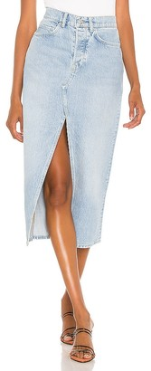 AllSaints Dottie Denim Maxi Skirt. - size 0 (also