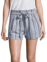 BCBGMAXAZRIA Striped Tie-Accented Shorts