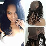 Cara Pre Plucked 360 Lace Frontal with Wig Caps Peruvian Body Wave 360 Lace Virigin Hair Closure with Baby Hair