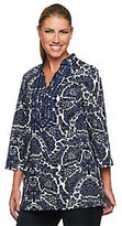 Isaac Mizrahi Live! Tapestry Print 3/4 Sleeve Tunic
