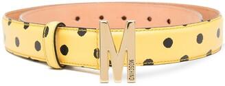 Moschino Polka Dot Print Belt