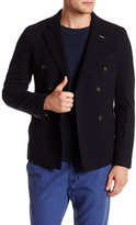 Gant Navy Double Breasted Notch Lapel Doubler Wool Blazer