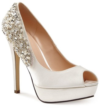 PeepToe Paradox London Indulgence Ivory High Heel Platform Peep-Toe Shoes