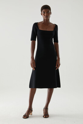 Cos Knitted Cotton-Silk Mix Dress