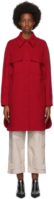 Stella McCartney Red Wool Kerry Coat