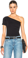Helmut Lang Asymmetrical Tee in Black.