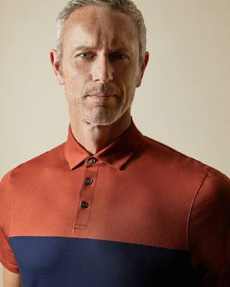 Ted Baker Tall Cotton Colour Block Polo Shirt