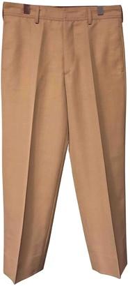 Dries Van Noten Pink Wool Trousers