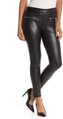 Bagatelle Faux Leather Zip Leggings