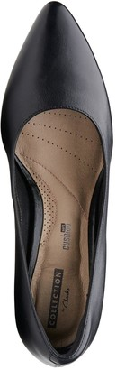 Clarks Linvale Jerica Wide Fit Mid Heel Court Shoes - Black