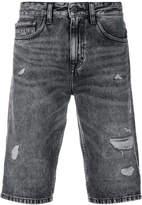 CK Calvin Klein distressed denim shorts