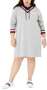 Tommy Hilfiger Plus Size Hoodie Sweatshirt Dress