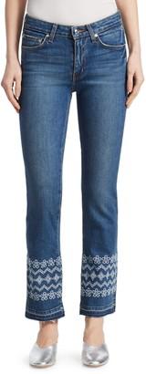 Derek Lam Jane Embroidered Ankle Jeans