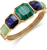 Charter Club Gold-Tone Large Stone Stretch Bangle Bracelet, Only at Macy's