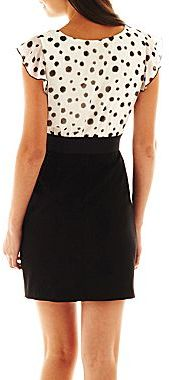 JCPenney by&by Polka Dot Dress