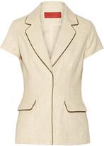 Tamara Mellon Metallic-trimmed cotton-blend jacket