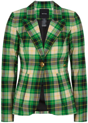Smythe Plaid seersucker blazer
