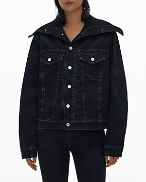 Helmut Lang Knit Collar Denim Trucker Jacket