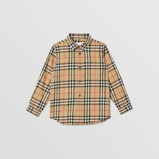 Burberry Childrens Vintage Check Cotton Flannel Shirt
