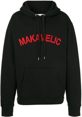 Makavelic Two-Tone Logo-Embroidered Hoodie
