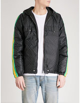 Gucci Logo-patterned Hooded Down And Feather-blend Shell Jacket