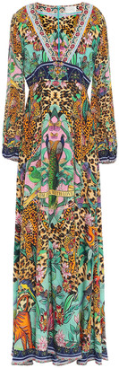 Camilla The Jungle Book Crystal-embellished Printed Silk Crepe De Chine Maxi Dress