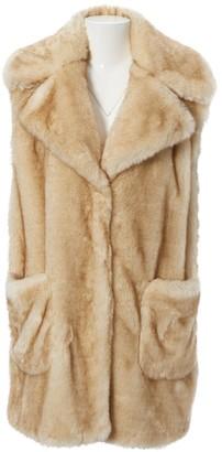 Dondup Beige Faux fur Coats