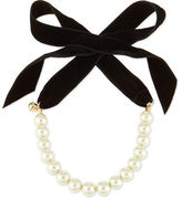 Lulu Frost Pearly Choker Necklace with Velvet Bow
