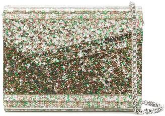 Jimmy Choo Candy glitter-embellished crossbody bag