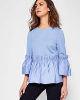 Ted Baker Gathered pleat detail top