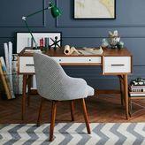 west elm Mid-Century Desk - Acorn + White