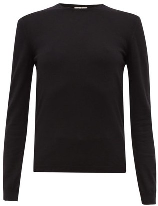 Giuliva Heritage Collection The Esthia Virgin Wool Sweater - Black