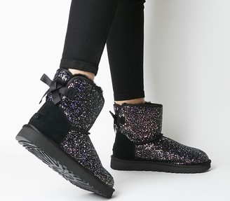 UGG Classic Mini Bow Cosmos Boots Black