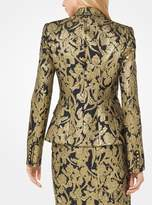 Michael Kors Floral Brocade Blazer