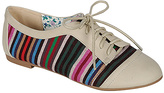 Bamboo Natural & Blue Stripe Lynna Oxford