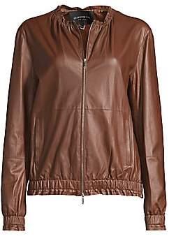 Lafayette 148 New York Women's Rylan Leather Bomber Jacket
